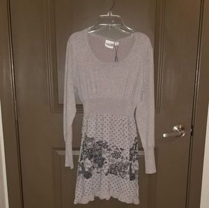 NWT. Young Threads Sweater Dress Size L